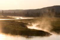 Morning at Yellowstone National Park